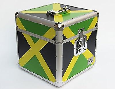 "Zilla Jamaica Flag JA 12"" 100 LP Single Vinyl Record Aluminium DJ Flight Carry Case Holds 100 Vinyls Tough Strong"