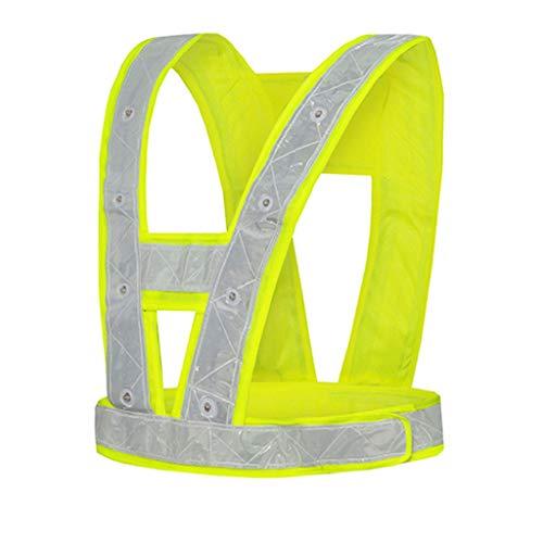 CAIM-Sicherheitswesten LED Warnschutzweste für Kinder für Kinder zum Spazierengehen (Color : Battery Model)