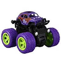FOREGA ミニ四駆慣性回転車のおもちゃ、摩擦力四輪オフロード車、ダイキャストモデル、慣性車のおもちゃ