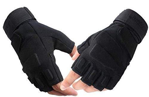 まごころすとあ タクティカル手袋 メンズ ハーフフィンガー サバゲー ミリタリーグローブ 登山 サイクリンググローブ (ハーフグローブ, XL)