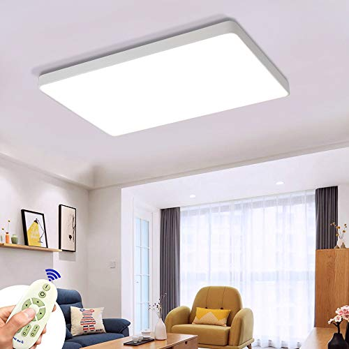 COOSNUG 72W Luz de techo LED Cuadrado blanco Lámpara de techo regulable moderna Sala de estar Pasillo Cocina Panel Luz [Clase de energía A ++]