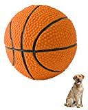 Basketball - Soft, Squeaky Dog Toy - Natural Rubber (Latex) - for Medium Dogs & Large Dogs - 3.5