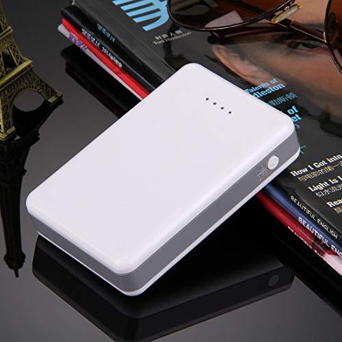Draagbare batterijen, hoge efficiëntie, 3 x 18650, kunststof behuizing voor powerbank met dubbele USB-uitgang en warmteafvoer, voor iPhone, iPad, Samsung, LG, Sony Ericsson, MP4