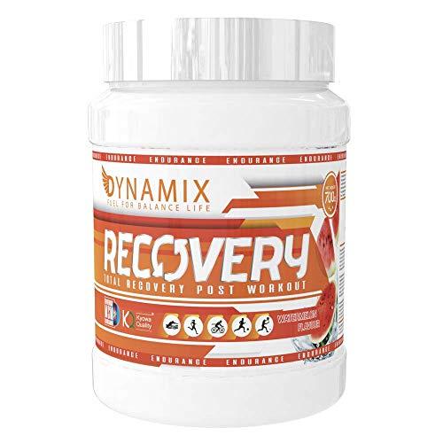 Recuperador Post Entreno sabor sandía - 700 Gr.- L-Glutamina Kyowa Bcaa Sulfato glucosamina Dextrosa MSM Magnesio Calcio Zinc Vitamina c - DYNAMIX