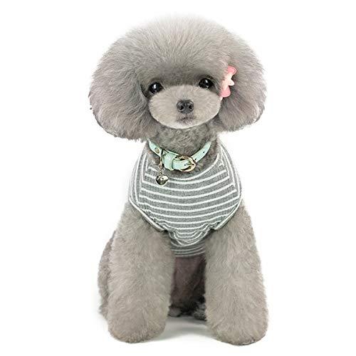 Harfkoko Jersey para Perro o Gato Pequeño/Ropa Cómoda de Punto para Mascotas Suéter de Abrigo para Mascotas Rosa Rojo Azul Gris Hierba - Peso 1,2-9,0 kg