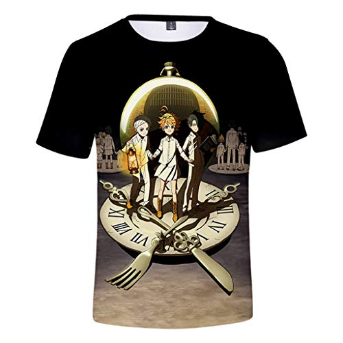 LOOVEE The Promised Neverland Camiseta, 3D Emma Norman Ray Anime Cosplay T-Shirt...