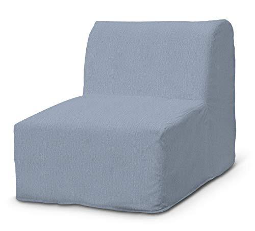 Dekoria Lycksele Sesselbezug Sofahusse passend für IKEA Modell Lycksele Silber- blau