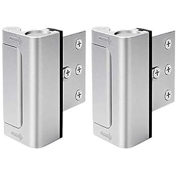 2 cerraduras para puerta de seguridad para el hogar, fácil de instalar y usar, a prueba de niños, 2 unidades, 12 unidades más fuertes que un cerrojo de seguridad convencional