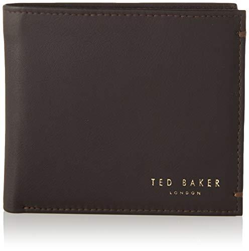 Ted Baker メンズ 0 トラベルアクセサリー 三つ折り財布, 0, Xchocolate, One Size