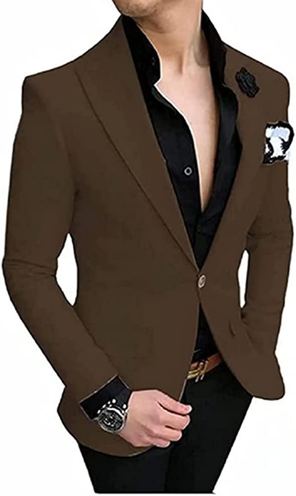 Men's Elegant Tuxedo Coat with Notched Lapel fit Bussiness Party and Prom