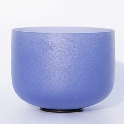 XIAOFEI Singing Bowl F Crystal Quartz Bowls 10 Inch Heart Chakra Frosted Quartz Crystal Yoga Meditation Sound Healing,12 inch