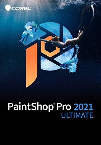 Corel PaintShop Pro 2021 Ultimate | Bildbearbeitungs-und Grafikdesign-Programm und kreative Sammlung | KI-gestützte Funktionen | Ultimate | 1 Gerät | PC | PC Aktivierungscode per Email