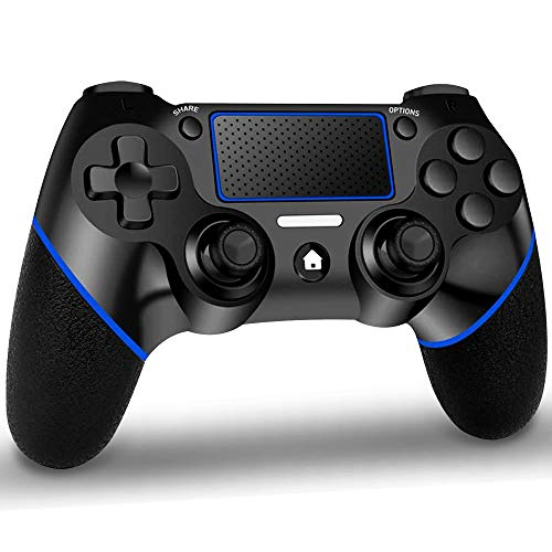GEEMEE Controller Wireless per PS-4, Controller Touch Panel con Doppia Vibrazione a Sei Assi e Audio, Bluetooth Senza Fili Gamepad Joystick Gamepad Gaming Controller