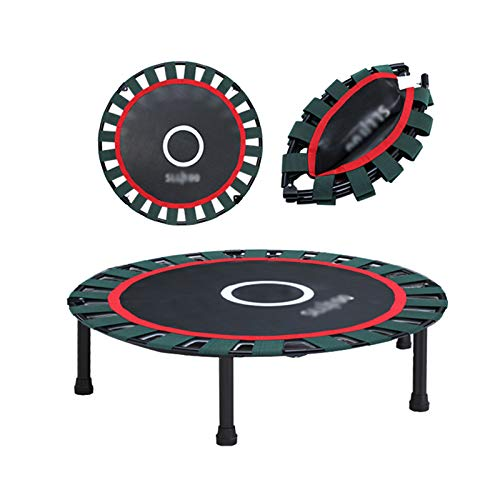 Trampolines HUO - 40in Kids Indoor Small Adult Fitness with Silent Elastic Webbing - Foldable