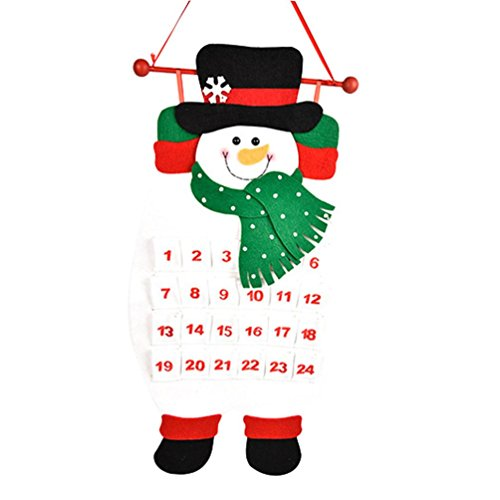 Boomboom Lovely Christmas Old Man Snowman Deer Calendar Countdown Calendar … (White)