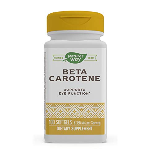 Nature's Way Natural Beta Carotene, 25,000 IU per serving, 100 Softgels