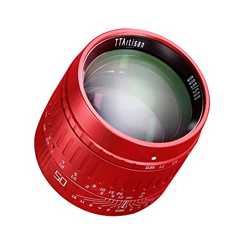 【丑年限定版】銘匠光学 TTArtisan 50mm F0.95 赤 記念版 単焦点レンズ 大口径 フルフレーム Leica Mマウント用
