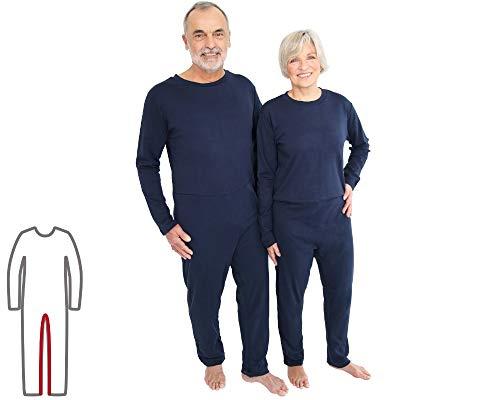 Pflegeoverall für Frauen und Männer; relax lang mit Beinreißverschluss; Demenz Overall; ActivePro (M)