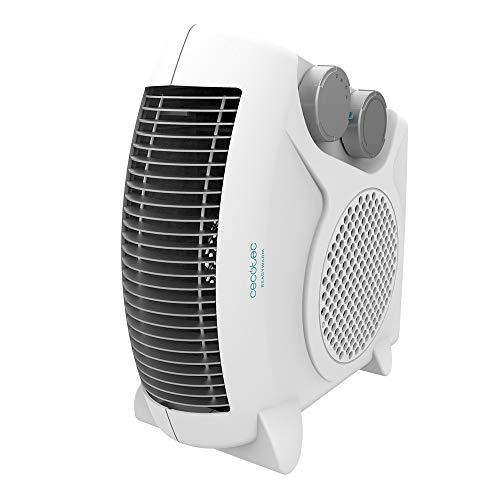 Cecotec Calefactor Eléctrico de Baño Bajo Consumo Ready Warm 9820 Force Dual de 2000 W, Termostato Regulable, 2 niveles, 3 Modos de funcionamiento, Silencioso, Sistema de Seguridad, 15m2