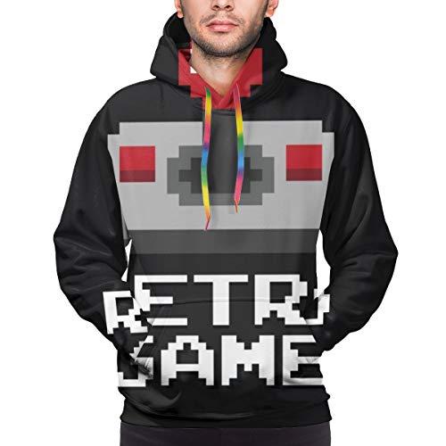 Moshow Herren Hoodie Grafik Joystick Arcade-Spiel im Vektor-Format Sweatshirt XXL