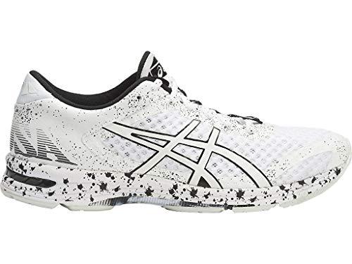 ASICS Men's Gel-Noosa Tri 11 Running Shoes, 8M, White/White/Black