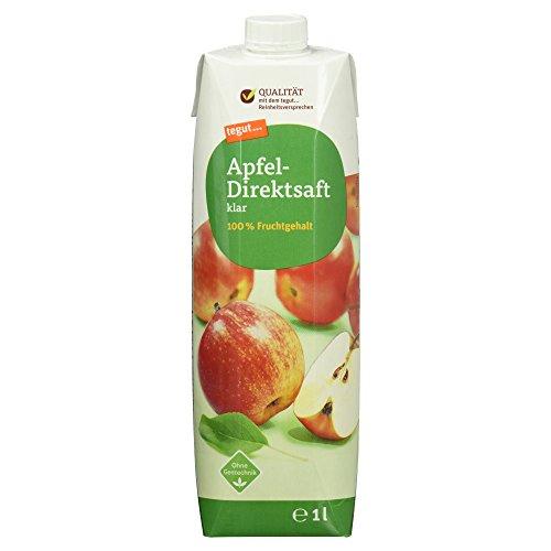 tegut... gute Lebensmittel Apfel-Direktsaft klar 100% Fruchtgehalt, ohne Gentechnik, 1er Pack (1 x 1 l)