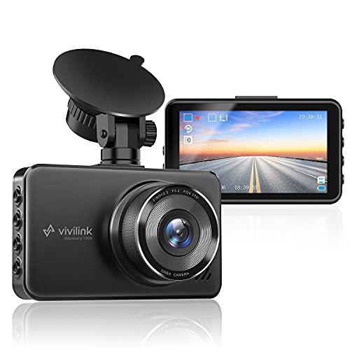ViviLink T20X Dashcam 2304*1440P Caméra Voiture Embarquée, Enregistreur Jour et Nuit, Vision Nocturne, WDR, Parking Mode, Grand Angle 170° G-Senseur, Boucles d'Enregistrement, Écran IPS 3''