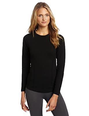 Duofold Women's Heavy Weight Double Layer Thermal Shirt, Black, Medium