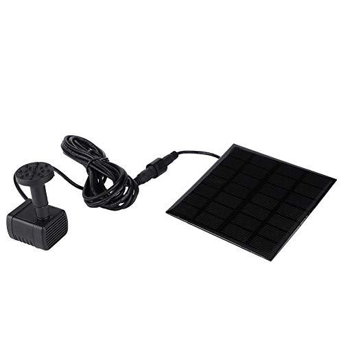 eecoo Solar Wasserpumpe Kit, 12V Solar Bürstenlose Mini Wasserpumpe mit Panel, Außenlandschaft Schwimmende Brunnenpumpe Kit für Gartenbrunnen Aquarium Wasserpumpe