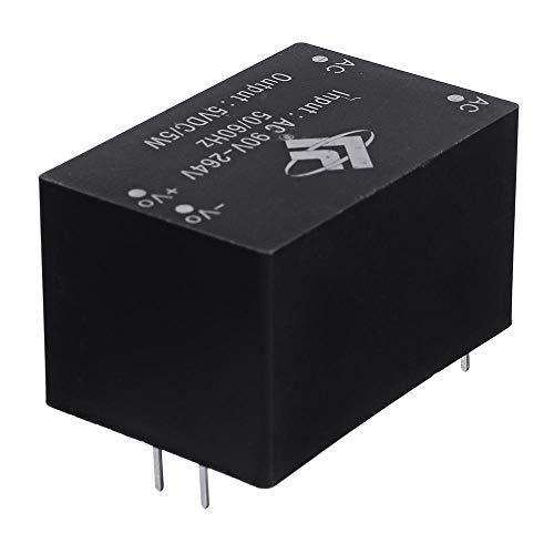 Módulo electrónico 220V a 5V 5W AC-DC interruptor de aislamiento del módulo de fuente de alimentación 5pcs Equipo electrónico de alta precisión