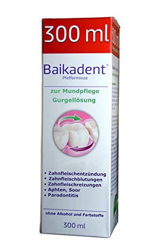 Gurgellösung, 300ml antibakteriell mit Baikal Helmkraut, im Halsbereich, bei Zahnfleischentzündung, Aphthen, Soor, Parodontitis, Reizungen durch Zahnprotesen, bei Wunden jeder Art