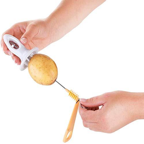 Tornado Potato Spiral Manuel Cutter Slicer - 4 Spits - Kitchen Cooking Maker