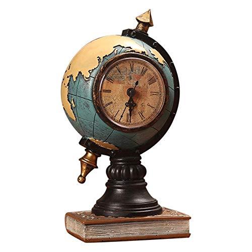 Vintage Globe Klok Decoratie Thuis Woonkamer TV Kast Vestibule Klok handgemaakte Office Desktop