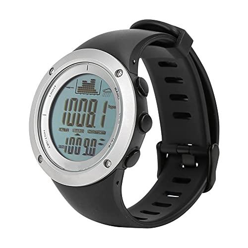 Cloudbox Reloj deportivo smartwatch pulsera deportiva fitness Tracker pesca barómetro impermeable altímetro termómetro relojes negro en blanco
