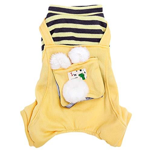 YDong Kitty Kleidung K?Tzchen Vier-Beinige Warme Winter Kleidung für Kleine Mittelgro?E Outfits L?Ssige Teddy Katzen Kleidung (XXL)