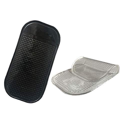 Winkey@ Diamant Malerei Aufkleber Perle Anti-Rutsch-Pads Auto Auto Handy Anti-Rutsch-Pads Innendekoration Zubehör transparent + schwarz