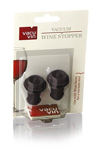 Vacu Vin 08845612 Stopfen für Weinpumpe 2-er Blister, braun