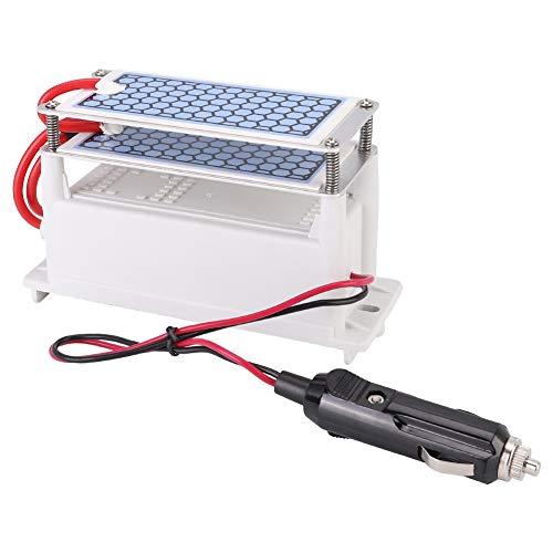 Purificador del filtro de aire DC12V, máquina de desinfección del generador de ozono del coche 10g/h Filtro de agua de placa de cerámica