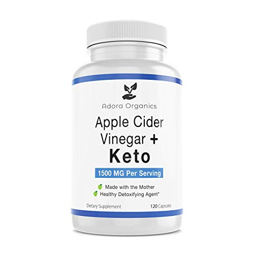 Apple Cider Vinegar Capsules with The Mother + Keto Dietary Supplement- BHB Salts with MCT Oil - 120 Capsules, 1500mg