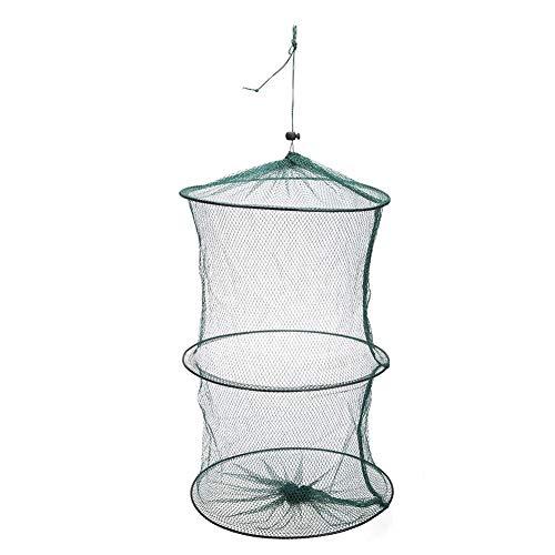 Pixag Angelkescher, faltbar, tragbar, Nylon, Fischnetz, Garnelen-Netzkäfig mit 3 mm Maschendurchmesser