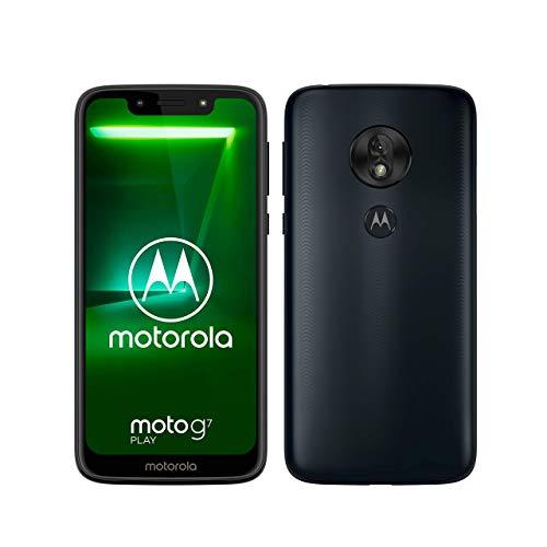 moto g7 play Dual-SIM Smartphone (5,7 Zoll Bildschirm, 13-MP-Kamera, 32GB/2GB, Android 9.0) Deep Indigo