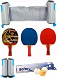 Softee Equipment Super Set Ping Pong Blanco - Rojo