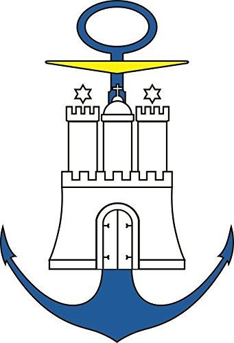 U24 Aufkleber Hamburg Hafen Wappen Autoaufkleber Sticker Konturschnitt