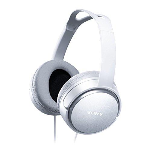 Sony MDR-XD150W Hi-Fi/ Musik und Film Kopfhörer (40-mm-Treibereinheit, 2-m-Kabel, Urethan-Ohrpolster, 12-22.000 Hz) weiß