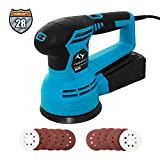 Orbital Sander, Tilswall 450W 6 Variable Speed 12000RPM 125mm Sander Machine with 12Pcs