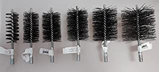 Cepillo de alambre de acero de forma definida, para limpiar chimenea, calderas, en calidad de deshollinador profesional
