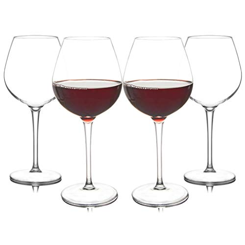 Estante de vidrio de vino plástico americano transparente irrompible silicona plástico copas de vino Bar Home GobletAmerican Material (color: 4 piezas)