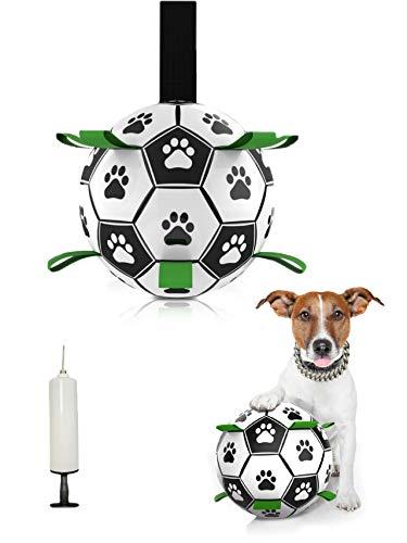 Avicsun Juguete para Perros,Juguetes Perro Masticar,Productos para Mascotas Perros,Juguete morder Perro con tubo inflable,Fútbol juguete interactivo perro para Entrenamiento y Ejercicio en Exteriores.