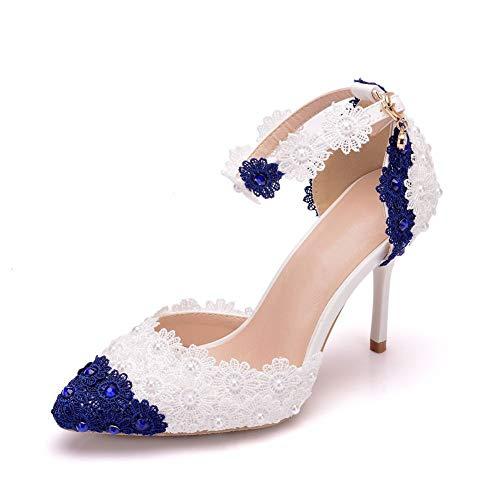 AORISSE Zapatos De Novia para Mujer, 9 Cm Zapatos De Boda De...