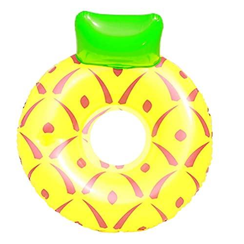 Ububiko Boya Inflable, Colchón De Aire Inflable Redondo Duradero Balsa De Piscina Flotante Inflable Anillo De Piscina Flotante, Sandía/Piña/Limón